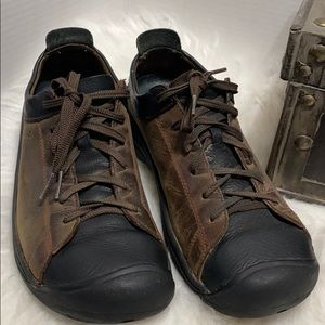 Keen Brown/ Black  Leather Casual Oxford Shoes